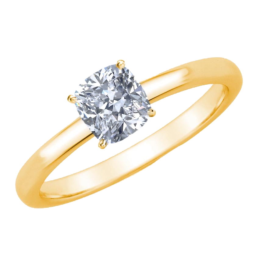3/4 CARAT CUSHION-CUT DIAMOND SOLITAIRE RING (F, VS) - Eternity Diamond Rings