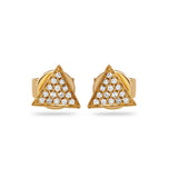 Jewels By Royal - Triangle Pave Earrings (PMI109834)