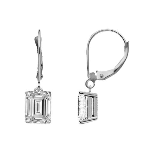 Eternity Diamond Rings - Emerald Cut Diamond Dangle Earrings (EMDG100CT-531)