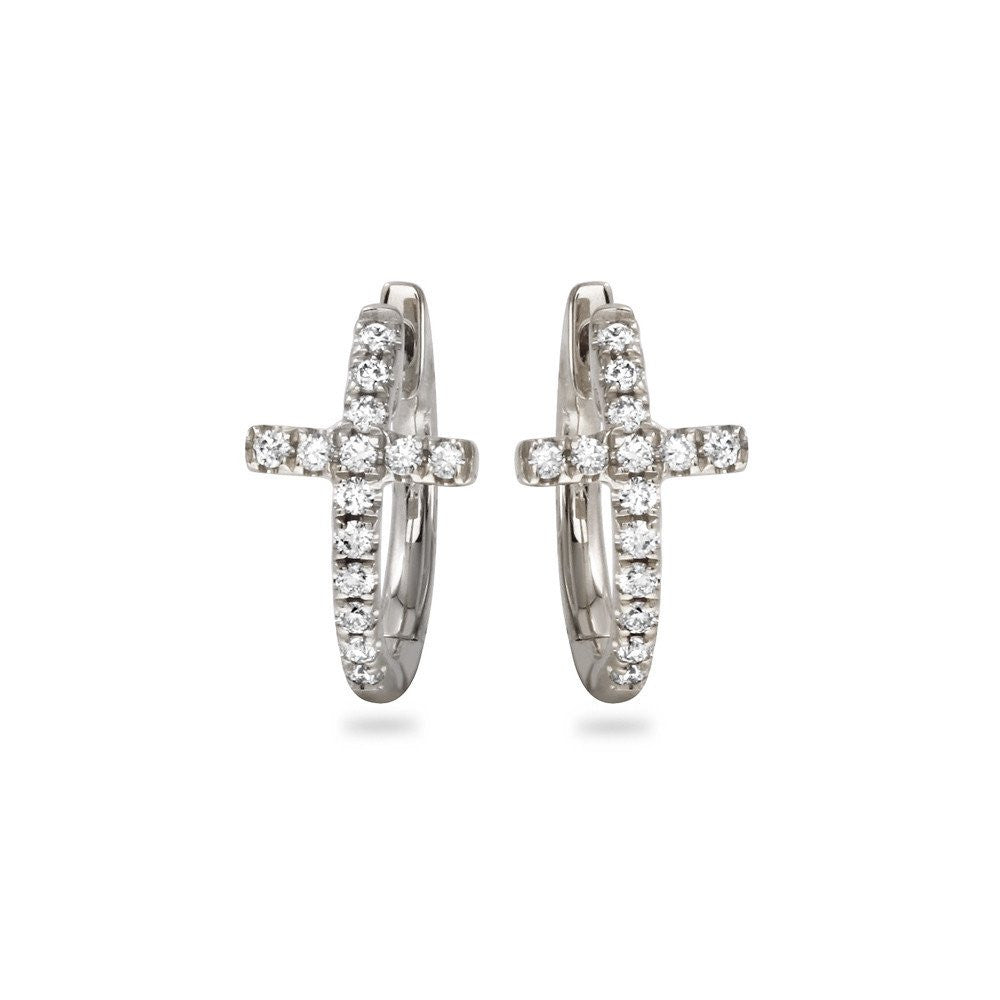 Jewels By Royal - Fancy Cross Diamond Earrings (PMI109912)