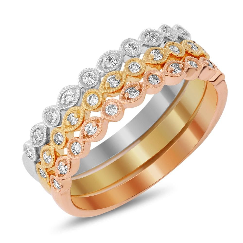 Jewels By Royal - Half Eternity Tri-Color Band (PMI100147)