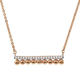 Jewels By Royal - Bar Necklace w/ Pave (PMI103797)