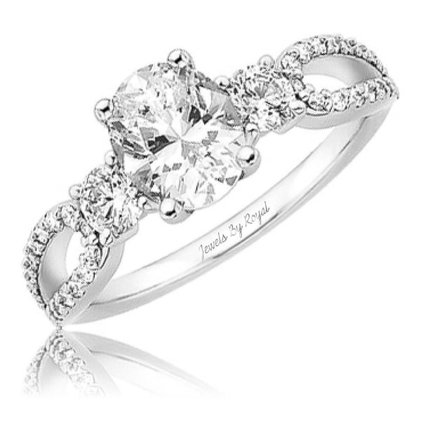 Jewels By Royal - Oval Cut Diamond Engagement Ring