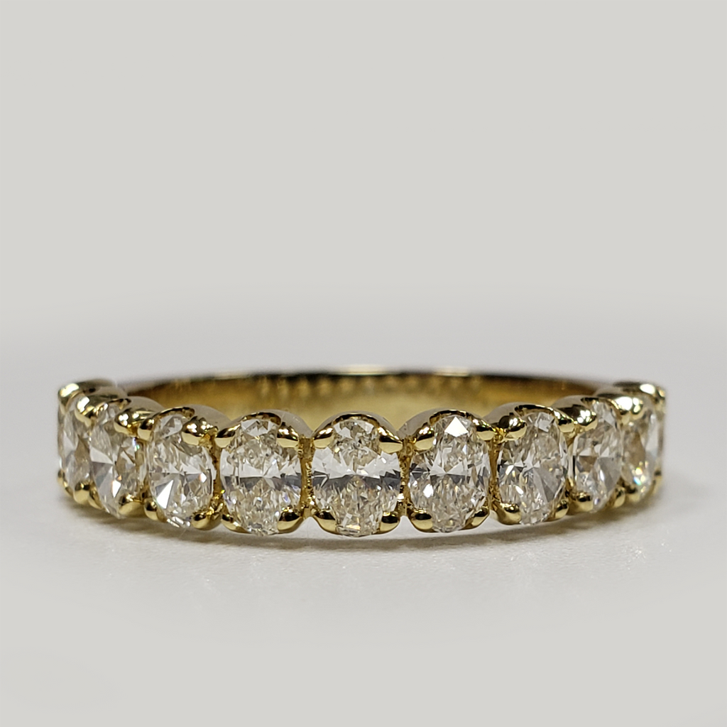 1.50 CARAT OVAL-CUT DIAMOND HALF ETERNITY RING (F+, VS) - Eternity Diamond Rings
