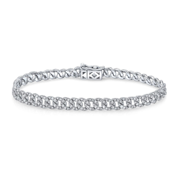 ROUND-CUT DIAMOND PAVE CHAIN BRACELET 2.06CT