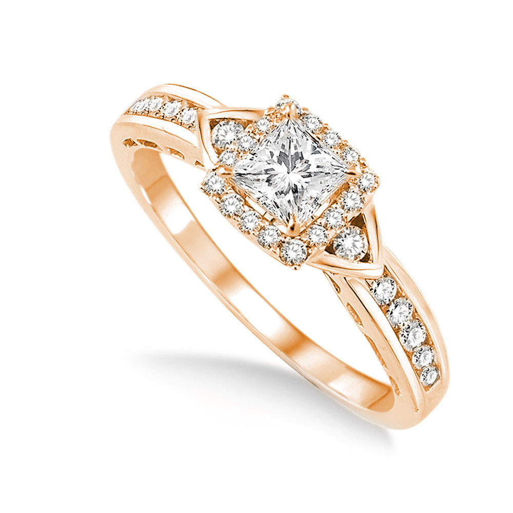 Jewels By Royal - Princess Cut Diamond Engagement Ring (PRENG092306050)