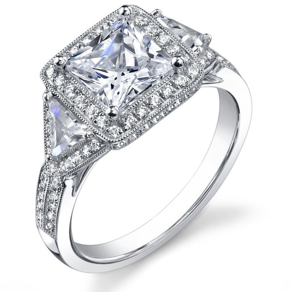 Jewels By Royal - Princess Cut Diamond Engagement (PRENG16)