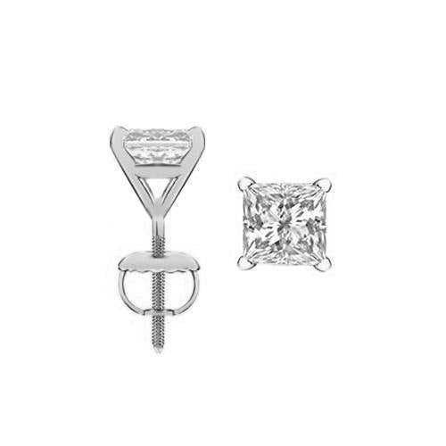 Eternity Diamond Rings - Princess Cut Diamond Stud Earrings (PR050CT-535)