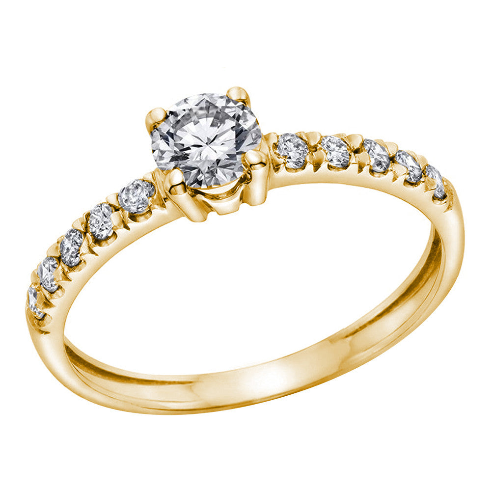 Jewels By Royal - GIA Certified Engagement Ring (RDSOLPV025)
