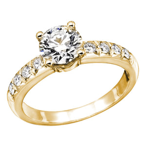 Jewels By Royal - GIA Certified Engagement Ring (RDSOLPVGIA01)