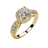 Jewels By Royal - Round Cut Halo Engagement Ring (RDHALPV-01)