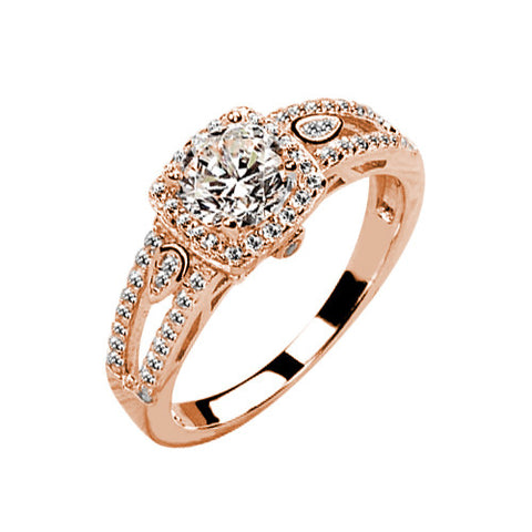 Jewels By Royal - Certified Round Cut Engagement Ring (RDHALSPSH-01)