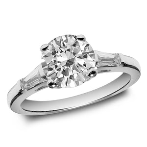 Jewels By Royal - Round Cut Engagement Ring with Baguette Sides (RDBGSOL16919)