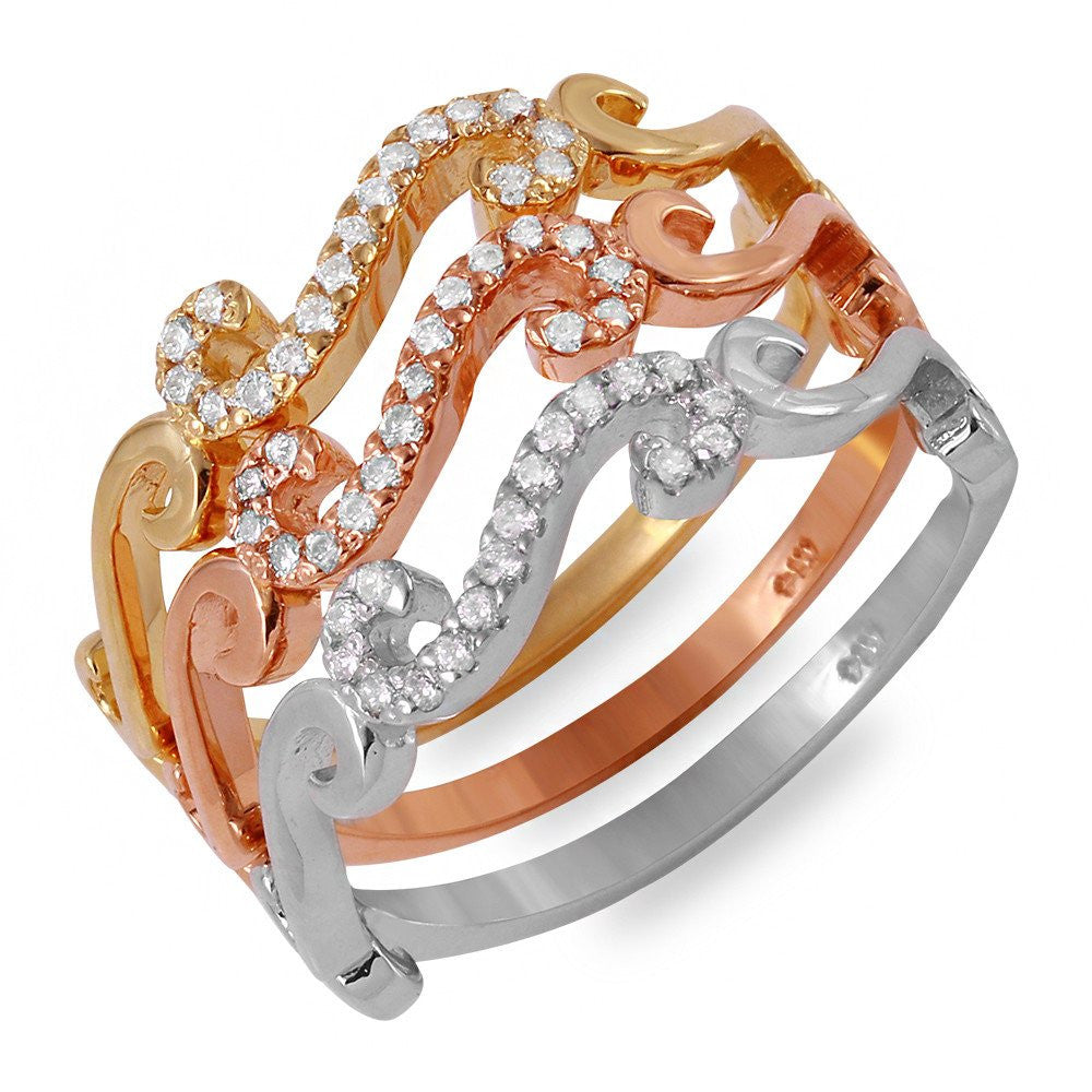 Jewels By Royal - Tri-Color Stackable Bands (PMI100312)