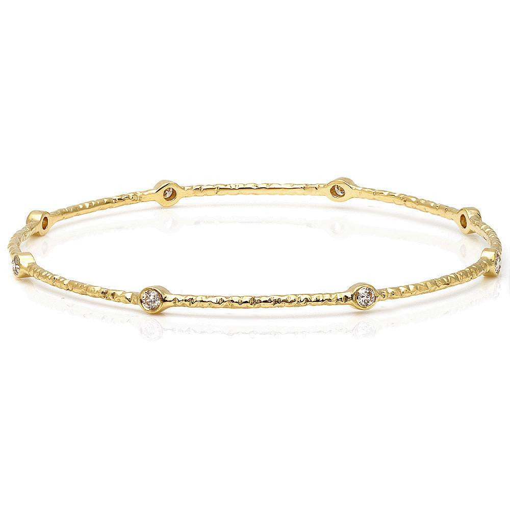 Jewels By Royal - Twig Bangle in 14K Gold (PM69641)