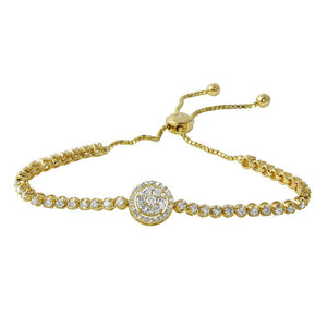 Jewels By Royal - Tennis Bracelet w/ Box Chain Links (PM114034)