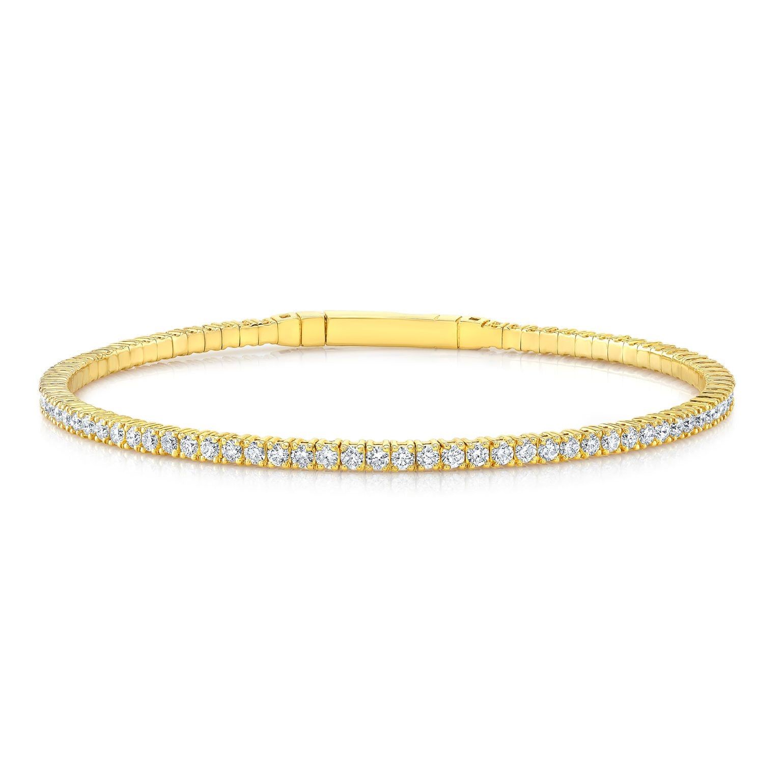 ROUND-CUT DIAMOND SQUARE BANGLE 1.54CT