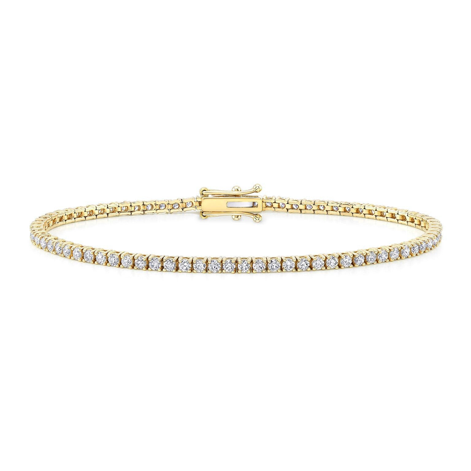 ROUND-CUT DIAMOND TENNIS BRACELET G-SI1 7.50CT