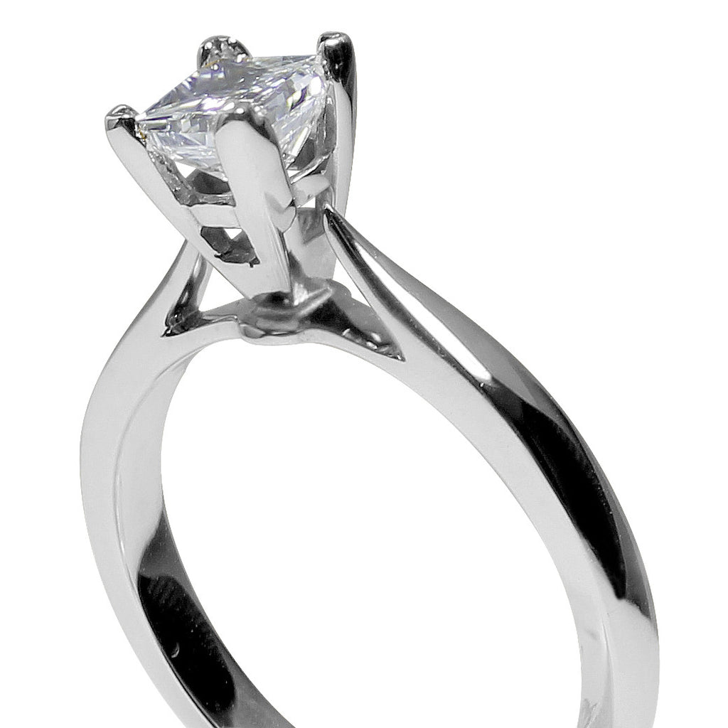 Jewels By Royal - Princess Cut Solitaire Engagement Ring (PRSOL025)