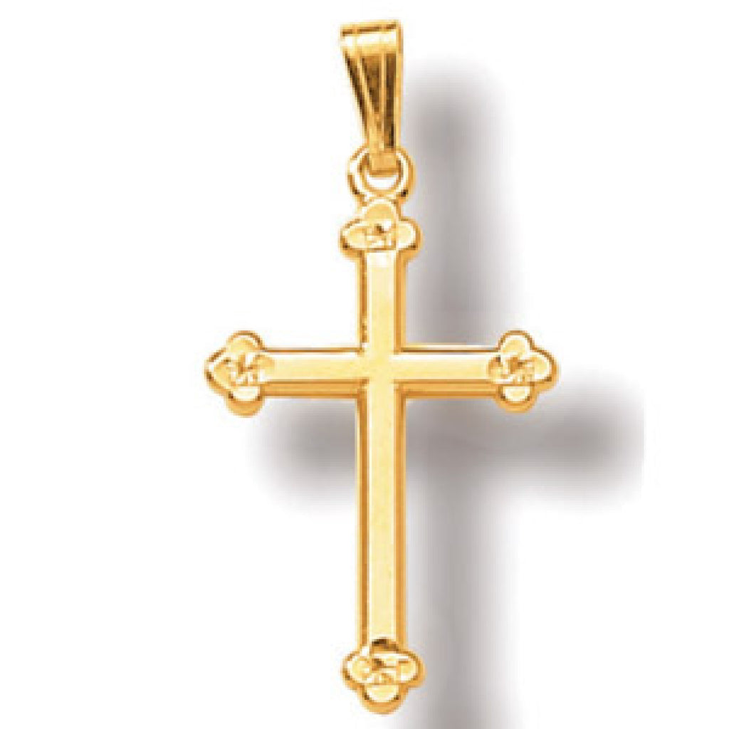 Jewels By Royal - 14K Yellow Gold Cross Pendant (JBRCRS5)
