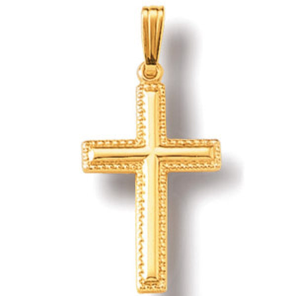Jewels By Royal - 14K Yellow Gold Cross Pendant (JBRCRS7)