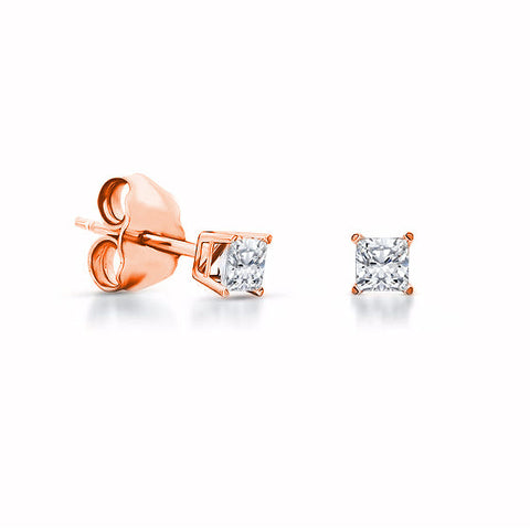 Jewels By Royal - Cushion Cut Diamond Stud Earrings