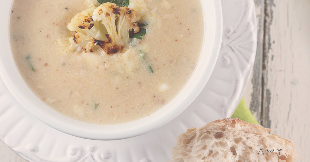 RECIPE: Easy Roasted Cauliflower Soup (3 Ingredients!)