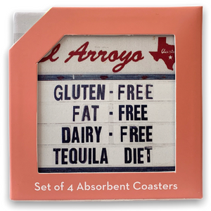El Arroyo Coaster Set - Tequila Diet