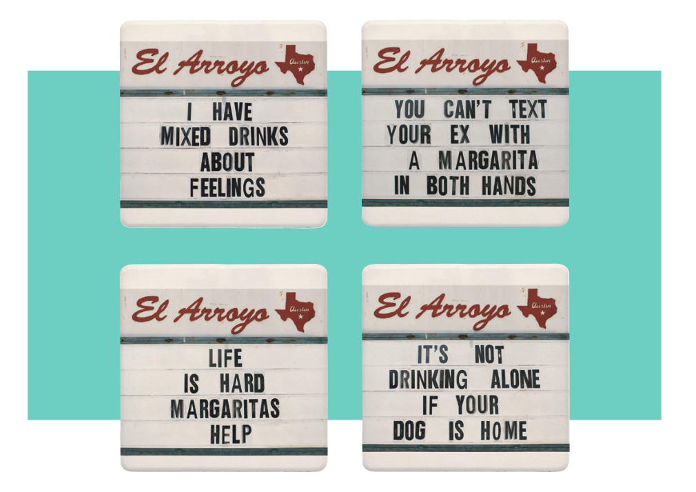 El Arroyo Coaster Set - Mixed Drinks