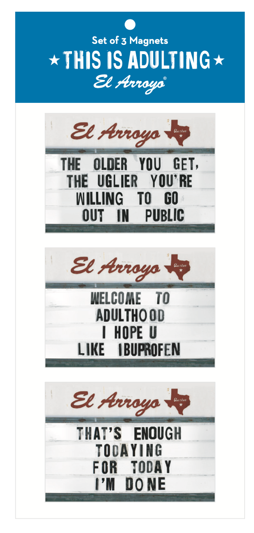 El Arroyo Magnet Set - This is Adulting