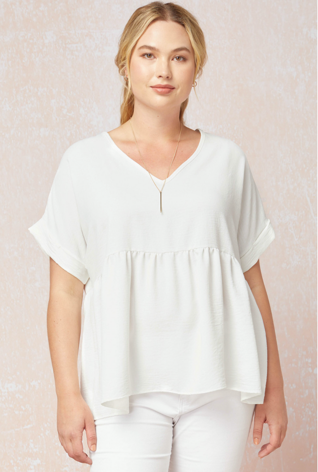 Mia Babydoll Top - White
