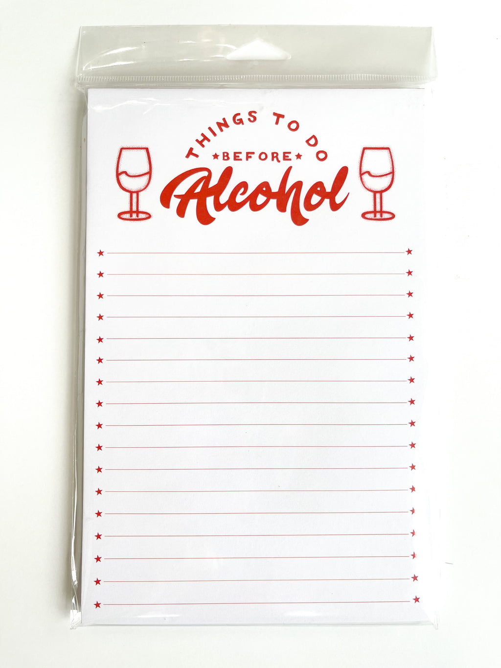 """Things To Do Before Alcohol"" Note Pad"