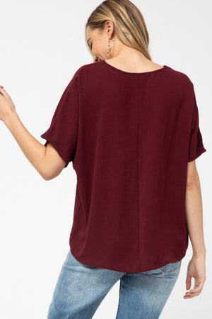 Mia Top Burgundy
