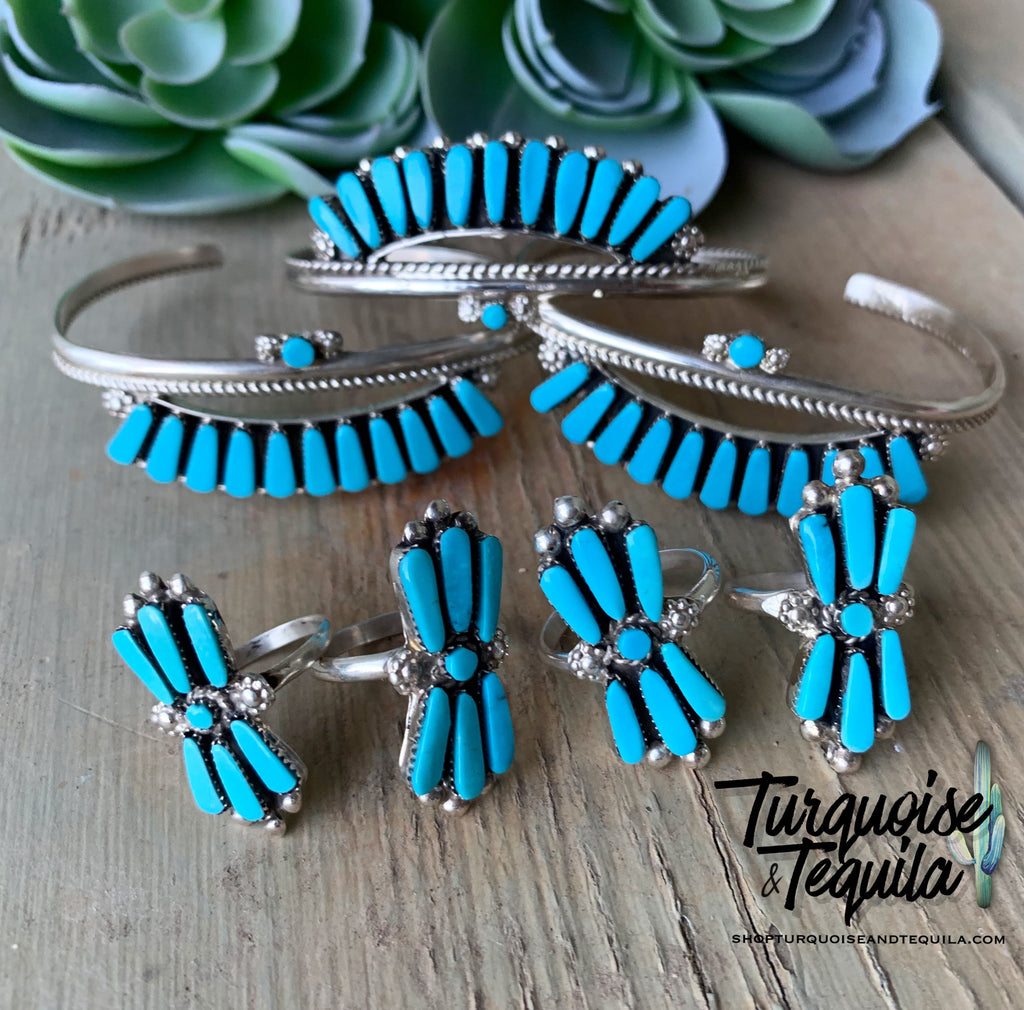 Turquoise Fan Ring