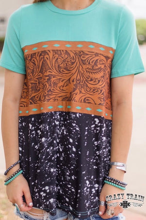 Tooled Leather Tee