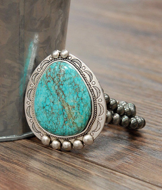 Large Turquoise Stretch Bracelet