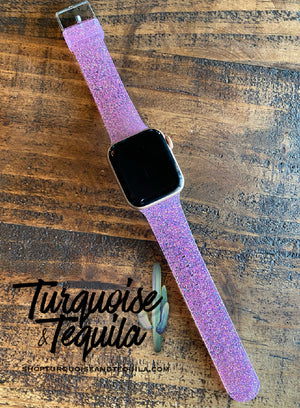 Pink Glitter Apple Watch Band