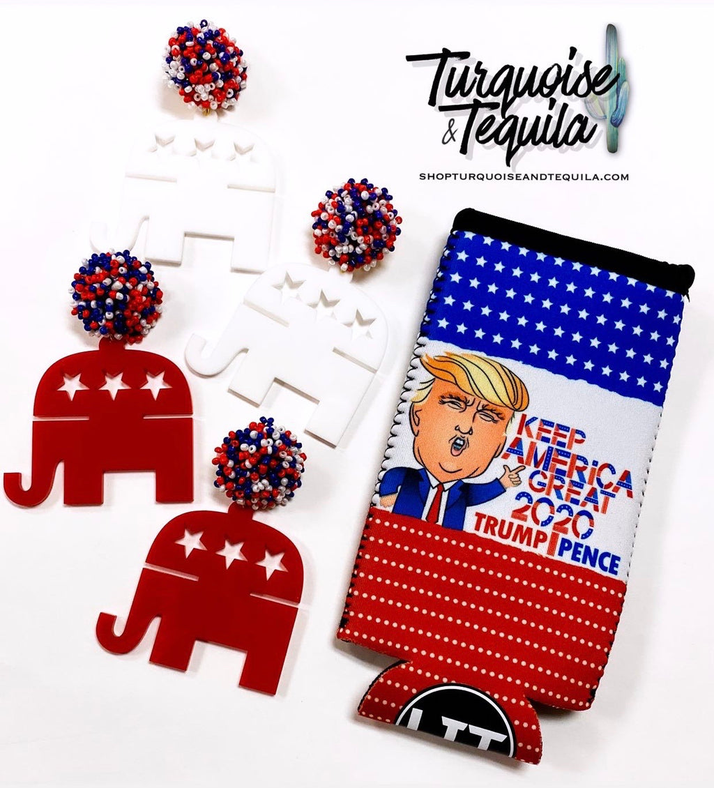 Republican Party Earrings