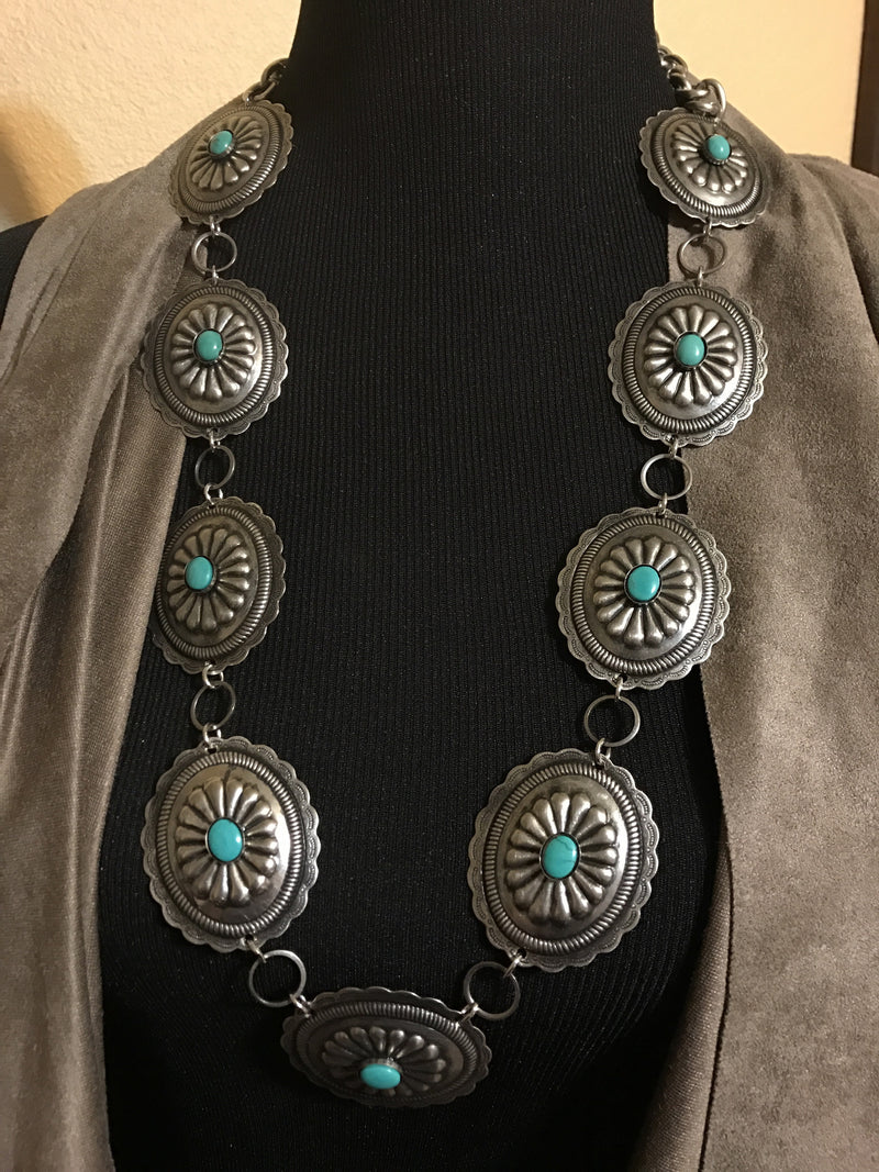 Long Concho Necklace