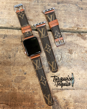 Upcycled Original Monogram Apple Watchband