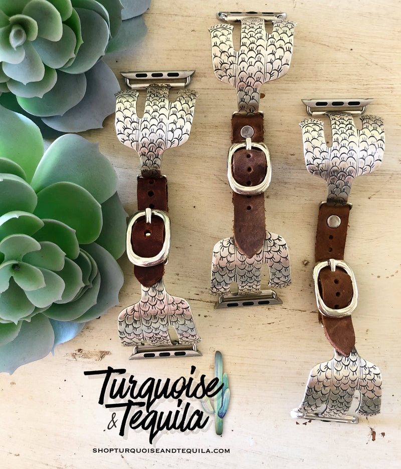Sterling Cactus Apple Watch Band