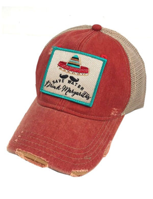 """Save Water Drink Margaritas"" Judith March Cap"