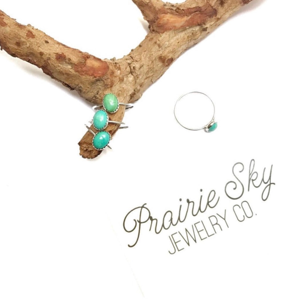 Dainty Turquoise Stackable Ring