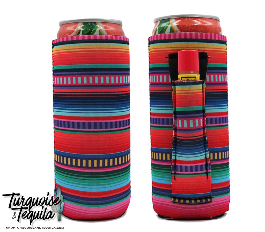 Slim Fit Can Cooler - Serape