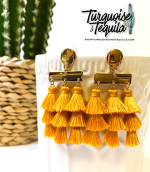 Vera Tassel Earrings (Ivory, Blush, Mustard)