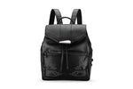 DBR Tamara Black Leather Backpack