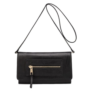 DBR Ella Black Leather Clutch - DBR Bags