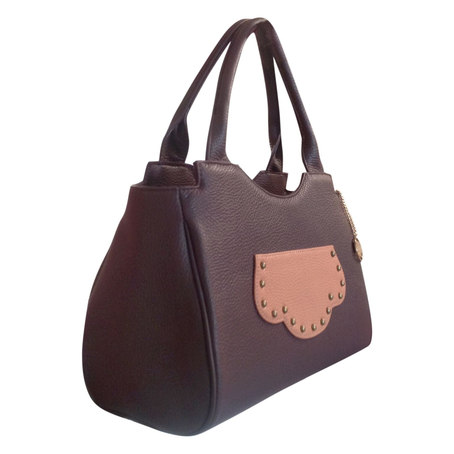 DBR Brown leather handbag