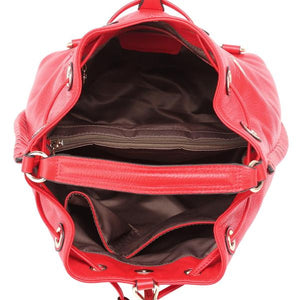 DBR Nina Red Leather Backpack