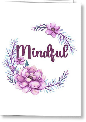 Mindful Inspirational Blank Note Card, Greeting Card with Envelope